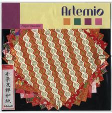 10 hojas papel japones 15x15 cm. Rojos
