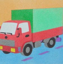Camion. 20x18 cm precortado