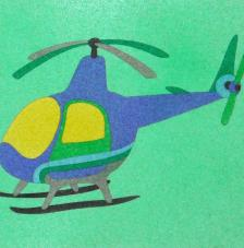 Helicopter. 20x18 cm pre-tallat