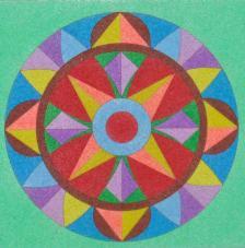 Mandalas 2. 20x18 cm precortado