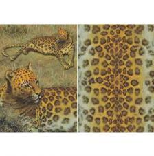 Papel decoupage leopardo 45x32 cm