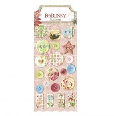 21 botons resina i cuir. Garden Journal