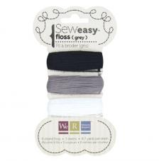 Hilos negros y grises para perforador Sew Easy. 24 m