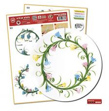 Quilling template: Wreaths of 11 and 8 cm