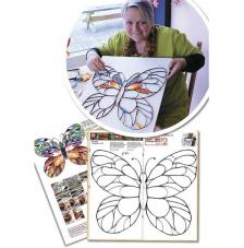 Quilling template: Butterfly giant 44x35 cm.