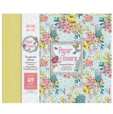 Scrapbook Album Flowers 30x30 cm