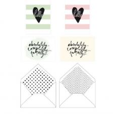 Minc Card set Hello Stripes 8 pzas