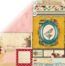Paper double-sided  30.5 x 30.5 cm. Juliet Nostalgia