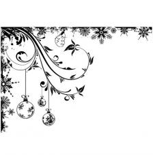 Rubber Stamp A6 Frosted Baubles
