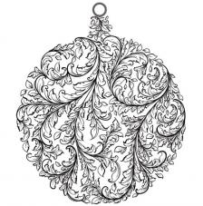Rubber Stamp A6 Baroque Bauble