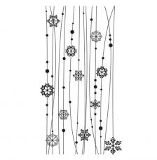 Rubber Stamp A6 Snowflake border