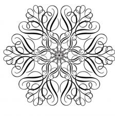 Rubber Stamp A6 Large Snowflake