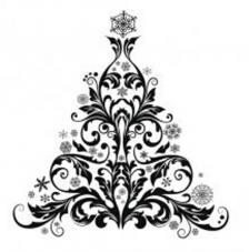 Rubber Stamp A6 Baroque Christmas Tree