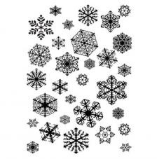 Rubber Stamp A6 Snowflakes