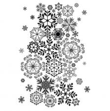 Rubber Stamp A6 Snowflake Lace