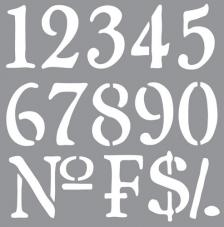 Stencil 30,5x30,5 cm numeros