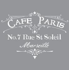 Stencil 30,5x30,5 cm cafe paris
