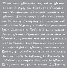 Stencil 30,5x30,5 cm Escritura