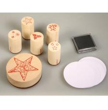 Stamp Kit wood Christmas Star