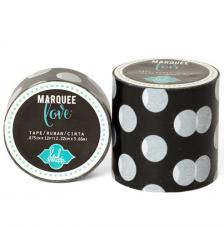 Masking Tape Marquee Love 2,2 cm. Roll 3,6 m. Black Dots