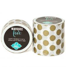 Masking Tape Marquee Love 2,2 cm. Rollo 3,6 m. Gold Dots