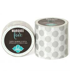 Masking Tape Marquee Love 2,2 cm. Rotllo 3,6 m. Silber Dots