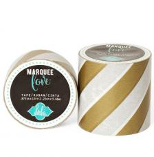 Masking Tape Marquee Love 2,2 cm. Rollo 3,6 m. Gold Strip