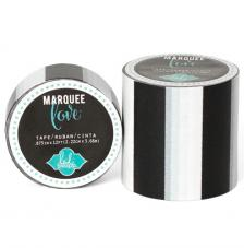 Masking Tape Marquee Love 2,2 cm. Rotllo 3,6 m. Black Strip