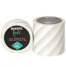 Masking Tape Marquee Love 5 cm. Roll 2,7 m. Silver foil