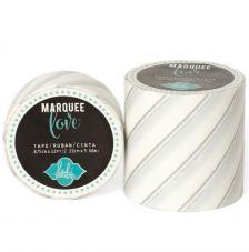 Masking Tape Marquee Love 2,2 cm. Rotllo 3,6 m. Silber foil