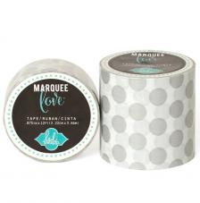 Masking Tape Marquee Love 5 cm. Roll 2,7 m. Silber Dots