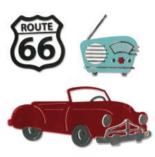 Sizzix Thinlits Set - Vintage Car&Radio