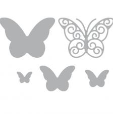 Whimsical butterflies die