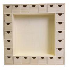 Calendario de adviento 39x39,5x6,5 cm