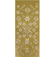 Sticker navidad oro estrellas 10x23 cm