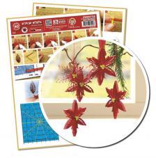 Plantilla quilling ponsetia, flor navidad