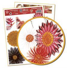 Plantilla quilling flores y petalos