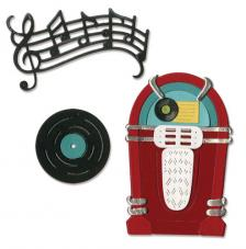 Sizzix Thinlits Die Set - Juke Box & Music