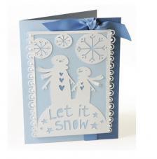 Sizzix Thinlits Die- Deja que nieve