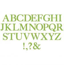 Troquel Sizzix Bigz. Alfabeto 5,10 cm