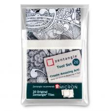 20 papeles originales Zentangle Blancos 9x9 cm