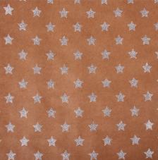 Paper Kraft 30,5x30,5cm. Estrellas plata