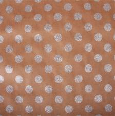 Paper Kraft 30,5x30,5cm. Circulos plata