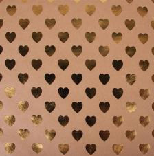 Paper Kraft 30,5x30,5cm. Corazones oro