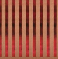 Paper Kraft 30,5x30,5cm. Rayas rojo