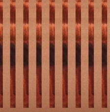Paper Kraft 30,5x30,5cm. Rayas cobre