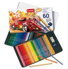 Estuche metal 60 lápices de colores. 60'S