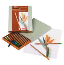 Caja madera 12 lápices de colores Bruynzeel
