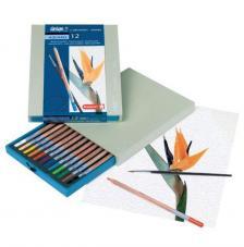 Caja madera 12 lápices acuarela Bruynzeel