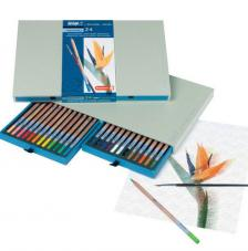 Caja madera 24 lápices acuarela Bruynzeel